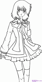 anime vampire coloring pages coloring home