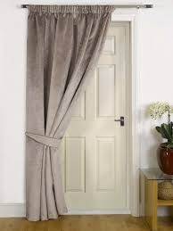 mink thermal door curtain faux velvet fabric reduces heat loss