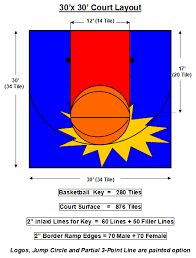 Backyard Basketball Half Court Court Layouts Flex Court Athletics