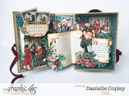 she u0027s sew crafty graphic 45 christmas carol pop up shadow box