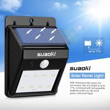 Led Solar Security Light With Motion Detector by Vct Slb 045 Suaoki