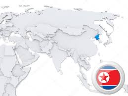 Asia On Map by North Korea On Map Of Asia U2014 Stock Photo Kerdazz7 31340087