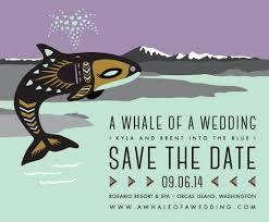 Digital Save The Date A Whale Of A Wedding U2014 Jen Murse Art Direction U0026 Design