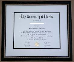 framing diplomas framed of florida diploma columbia frame shop
