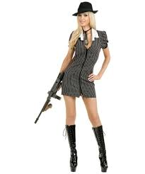 Gangster Costumes Halloween Gangster Moll Dress Size Costume Women Gangster Costumes