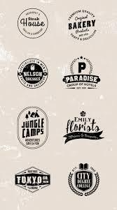 set of 8 free vintage vector logo templates navy themes