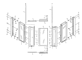 neo angle shower doors separated parts with diagram 11 pictures