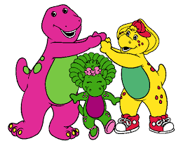 barney coloring clip art library