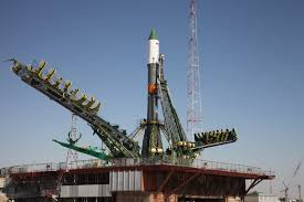 soyuz rocket rolled out for critical iss cargo launch
