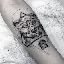 best 25 geometric bear tattoo ideas on pinterest geometric bear