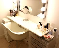 double sink vanity with makeup station vanity decoration