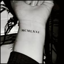roman numeral tattoos custom tattoos temporary tattoos fake