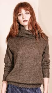 womens sweater brown alpaca sweater isabelle brown krista elsta
