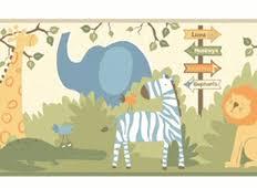 kids themes nursery wallpaper borders