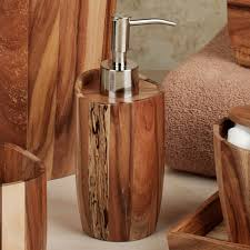 Brown Bathroom Accessories Acacia Handcrafted Wood Bath Accessories