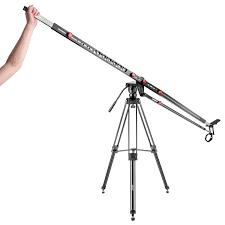 neewer 9ft carbon fiber extandable camera crane jib tilt arm with