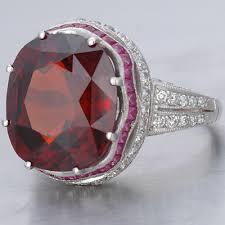 art deco rings art deco hessonite garnet ring