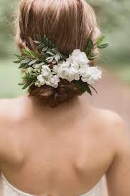 wedding flowers hair the flower comb with this bun swoon www mysweetengagement