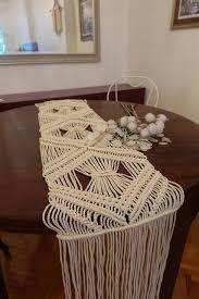 wedding runner geometric pattern macrame handmade runner wedding runners