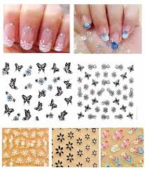 unique collection 3d decal stickers nail art decoration manicure