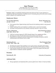 marketing resume format marketing resume marketing resume sle