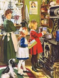 image result for norman rockwell painting hanging the laundry