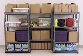 How To Build Garage Storage Shelving by Storage U0026 Organization Unfinished Wooden Garage Storage Shelves