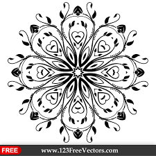 259 flourish vector ornament design png
