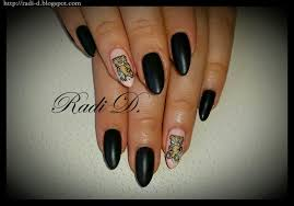 it s all about nails black matte nails with teddy bear