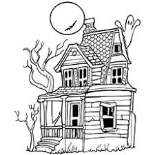 printable spooky house top 25 free printable haunted house coloring pages online