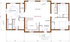 Open Cabin Floor Plans Single Story House Plans One Story House And Home Plans Small One