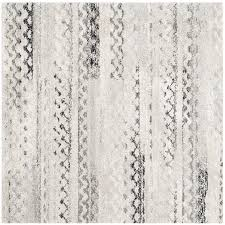 White And Gray Rugs Shop Safavieh Retro Tucson Cream Gray Square Indoor Machine Made