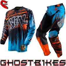 motocross pants and jersey combo oneal 2013 mayhem crypt blue orange mx race motocross jersey pants