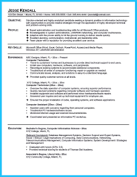 Pc Technician Resume How To Make Cable Technician Resume That Is Really Perfect