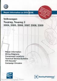 volkswagen touareg 2004 2009 repair manual on dvd rom