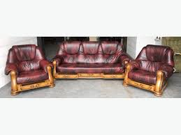 Leather And Wood Sofa Leather And Wood Sofas Ezhandui