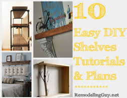 Free Wooden Shelf Bracket Plans by 10 Easy Diy Shelves Tutorials Plans And Ideas