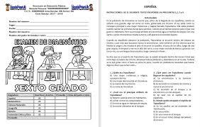 examen montenegro 3 grado primaria examen de diagnóstico del sexto grado del ciclo escolar 2017 2018
