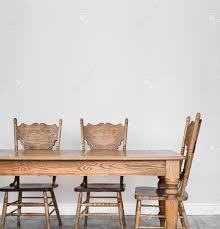 Dining Room Wall Wooden Dining Room Table And Chair Details And Blank Wall For