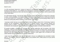 smartness cover letters for teachers 12 preschool teacher letter