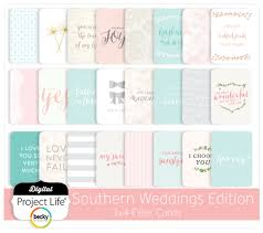 project digital southern weddings 3x4 filler cards