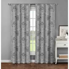 Fleur De Lis Curtains Window Elements Semi Opaque Fleur De Lis Printed Cotton Wide