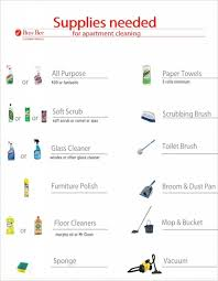 List Of Things To Buy When Moving Into A New House by Apartment Cleaning Supplies List