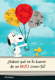 peanuts snoopy and woodstock spanish language birthday card for