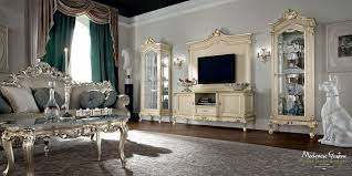 Italian Classic Furniture Living Room by Classic Tv Cabinet Wooden Casanova Modenese Gastone Luxury