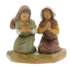 fontanini junia u0026 eve praying girls 5