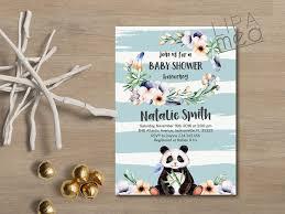 panda baby shower invitations u2013 gangcraft net