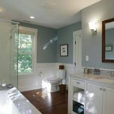 slate blue walls provide the color in this master bath i like the