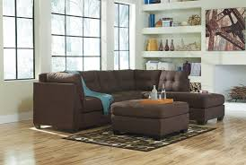 benchcraft maier walnut 2 piece sectional w sleeper sofa u0026 left