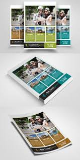 free travel a5 brochure template on behance flyer design